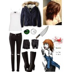 """Clockwork (creepypasta) costume"" by xcherry on Polyvore"