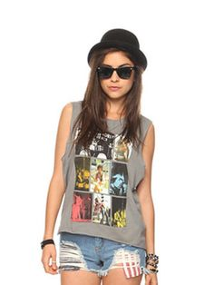 Band t-shirts w/ bowler hat