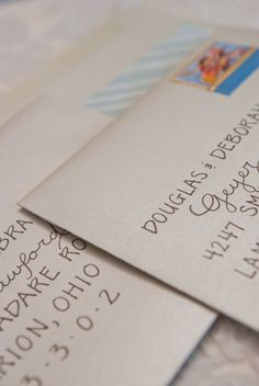 Custom Wedding Calligraphy for Envelope Addressing - Place Cards, Escort Cards, Invitations, $1.25