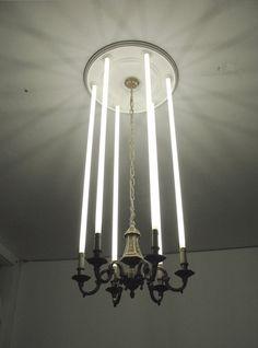 lightsaber chandelier woah
