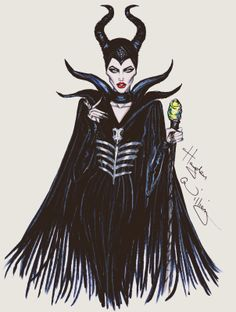 Hayden Williams Fashion Illustrations: Maleficent by Hayden Williams