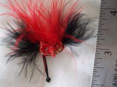Gothic Halloween Witch Venetian Mask dollhouse by MidnightsDreams, $9.50