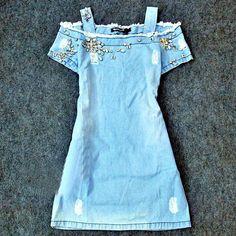vestido denim stolen time - stu1000356