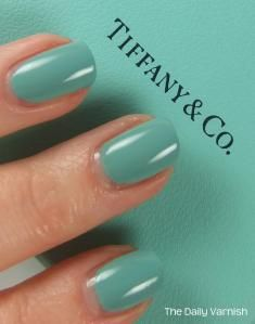 Tiffany Blue Nail Polish. Don't care about the jewelry, but this color is great!