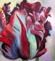 parrot tulip. Ranunculus, Peonies, Parrot Tulips, Art Clipart, Marsala, Textile Patterns, Botanical Illustration, Blue Lace, My Flower
