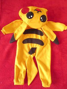 Pikachu Pokemon Onesie Costume