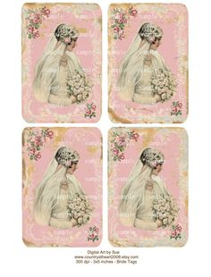 Vintage look Wedding Bride Tags  Cards    by CountryAtHeart2008, $4.99