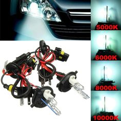 Pair H4 H4-2 35W 55W Hi-Lo Dual Beam Car Xenon Headlight HID Light Bulb Lamp Kit. Specification:  bulbs: H4-2 (xenon For Low Beam/halogen For High Beam)  light Color:  low Beam: White 5000k, Diamond White 6000k, Light Blue 8000k, Dark Blue 10000k  high Beam: Warm White 4300k  power: 35w  voltage: 12v  qty Included: 2 Lights    note:  1. Please Check The Size Measurement And The Picture Carefully Before Making Payment.  2. Please Allow 0.5-1 Inch Difference Due To Manual Measurement.(1…