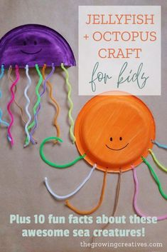 Easy Ocean Craft for Kids: Make a Jellyfish + Octopus • The Growing Creatives