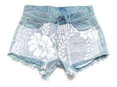 Low rise shorts with lace lace shorts S by deathdiscolovesyou, $30.00, shorts, denim shorts, jean shorts, studded shorts, destroyed shorts, cut offs, cut off shorts, studding, studs, studded, shredded shorts, vintage, fashion, style, summer, cool, vintage, party, festival, pretty