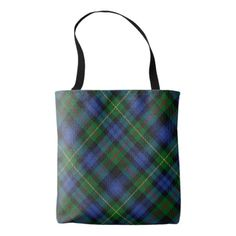 Scottish Clan MacEwen McEwen Tartan Plaid Tote Bag