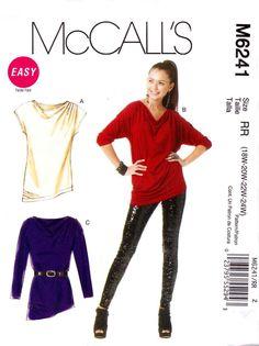 McCalls Sewing Pattern 6241 Womans Plus Size 18W-24W Easy Pullover Knit Tunic Top   McCalls+Sewing+Pattern+6241+Womans+Plus+Size+18W-24W+Easy+Pullover+Knit+Tunic+Top