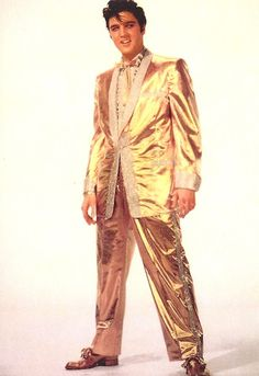 Shiny Elvis, Mymom took my sister's and my self  to see Elvis at the fairgrounds in Spokane. He was wearing this outfit that night.