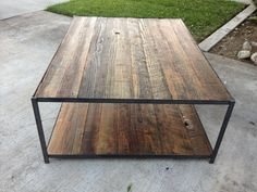Reclaimed Wood and Angle Iron Coffee Table