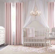 Appliquéd Frame Cotton Canvas Drapery Panel | Drapery | Restoration Hardware Baby & Child