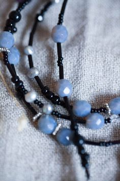 Long dark bohemian luxury necklace limited by WhiteLilyDesign