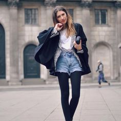 denim shorts with tights - Поиск в Google