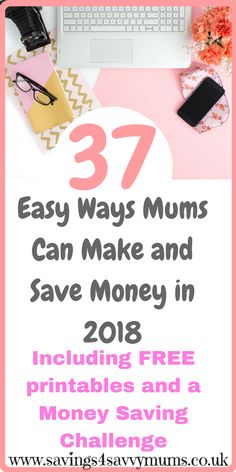 37 Easy Ways Mums Can Make and Save Money in 2018 - Savings 4 Savvy Mums Ways To Save Money, Make More Money, Money Tips, Make Money From Home, Money Saving Tips, Extra Money, Managing Money, Family Budget, Frugal Family