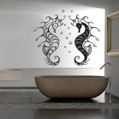 Wall Decal Decor Decals Sticker Hippocampus Sea Horse Ocean Animals Fish Curl Tattoo (M285) DecorWallDecals http://www.amazon.com/dp/B00FWKS3NE/ref=cm_sw_r_pi_dp_hsmYub1QRSMQJ