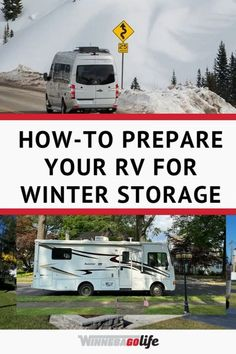 Do you store your rv in the winter? Are you searching for ways to prepare your rv for winter storage? Here are the best tips on how to store your rig properly. From winterizing the plumbing, protecting the tires, to where to store your rv, and so much more. No matter how long you store your rv these ideas will help your rig get through the winter months, and be ready to de-winterize in the spring. Check out the article for all details, and start planning your next rv trip. Rv Hacks, Rv Travel, Winter Months, Motorhome, Recreational Vehicles, Everything, Rv Tips, How To Plan, Storage