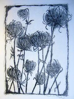 "Collagraph Print | Textures - Collagraph print (7"" x 9"")"