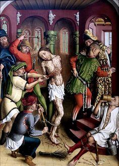 Flagellation du Christ, Maitre de la Passion de Karlsruhe, 1440-1470?