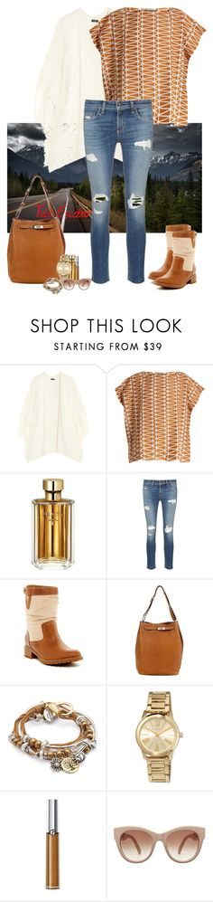 """Cold for a casual look"" by tais-escobar ❤ liked on Polyvore featuring Issey Miyake, Prada, rag & bone/JEAN, Timberland, Hermès, Lizzy James, MICHAEL Michael Kors and Giorgio Armani"
