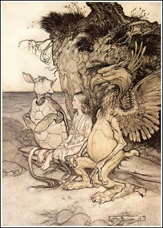 Alice in Wonderland by Arthur Rackham - 13 - That's very curious - Alice's Adventures in Wonderland - Wikipedia, the free encyclopedia