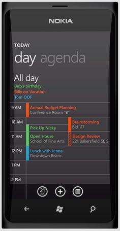 Nokia W9: Windows 7 Phone concept calendar
