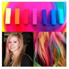 Hair Chalk. Dying your hair is a pretty big commitment, so opt for a less permanent option. Simply wet your hair and apply one of the colors to an area of your choosing. Perfect for coloring a few strands or for your entire head, this hair chalk easily washes out after one shower so you can wear it for as little or as long as you'd like. No! I Do Not Dye my Hair! Never have and never will. :)