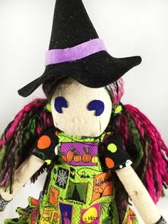 Witch Doll - Creepy Cute - Sitting Doll -Eva - pinned by pin4etsy.com