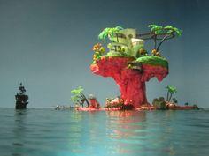 Gorillaz 'Plastic Beach' island