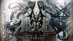 """Giger's art is generally described as being """"biomechanoid,"""" or some other made up word like that. Description from standbyformindcontrol.com. I searched for this on bing.com/images"""