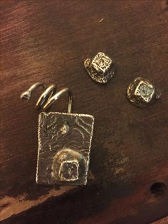 Sterling silver riticulated charcoal cast squares pendant & stud earrings Hand Designs, Squares, Charcoal, Cufflinks, Lisa, Handmade Jewelry, Stud Earrings, Sterling Silver, Pendant