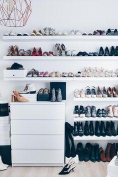 Meine Schuhwand im Ankleidezimmer, Schuhaufbewahrung DIY, Schuhwand selber machen, Schuhe praktisch aufbewahren, Interior Blog, Homestory, www.whoismocca.com