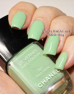Chanel Fraîcheur 767 Chanel Nail Polish, Chanel Nails, Les Nails, Nail Art Blog, Nail Jewelry, New Fragrances, Nail Colors, Colours, Natural Nails