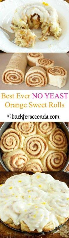 NO YEAST Easy Orange Sweet Rolls