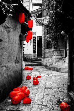 Red Lanterns in Lijiang, China