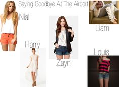 """Saying Goodbye At The Airport"" by kyliecraig ❤ liked on Polyvore"