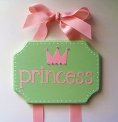 personalized princess bow holder