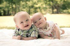 happy twin babies!
