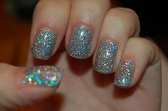 Nail Polish - Silver/ Multicolored sparkles. OMGZ where is this polish in my life right now?
