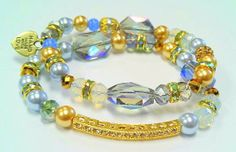 Kaleidoscope Cross Beaded Bracelet by RandRsWristCandy on Etsy, $9.00
