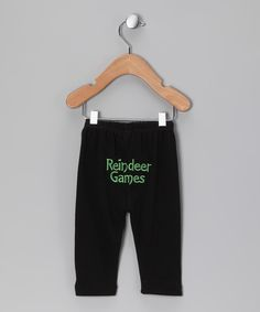 Look what I found on #zulily! Black 'Reindeer Games' Pants - Infant & Toddler by Holiday by Petunia Petals #zulilyfinds
