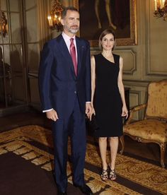 King Felipe and Queen Letizia attends a reception in Paris