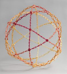 "Chuck Hoberman. Hoberman Sphere. 1994. Polypropylene and ABS plastic, closed: diam. 9"" (22.9 cm) open: diam. 30"" (76.2 cm). Gift of the manufacturer"