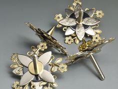 """Kreisel+""""Metalflower""""+von+Kreisel-Art+auf+DaWanda.com"""