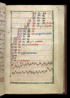 Musical Scales of Guido Aretino, in a Miscellany 1245; mid-13th century