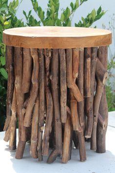 DIY Inspiration // Teak Twig Table
