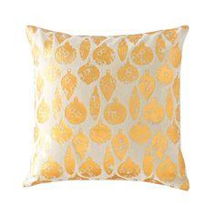 Golden Ornaments Pillow   dotandbo.com